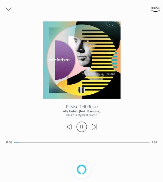 Amazon Music wird in einem einfachen Player ausgeführt. (Foto: Screenshot)