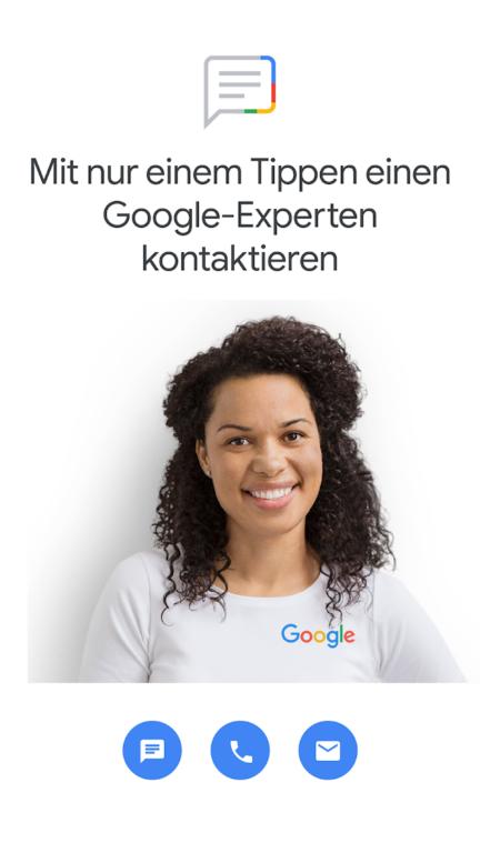 Eine Neuerung: Direkter Kontakt zu Mitarbeitern von Google. (Foto: Google)