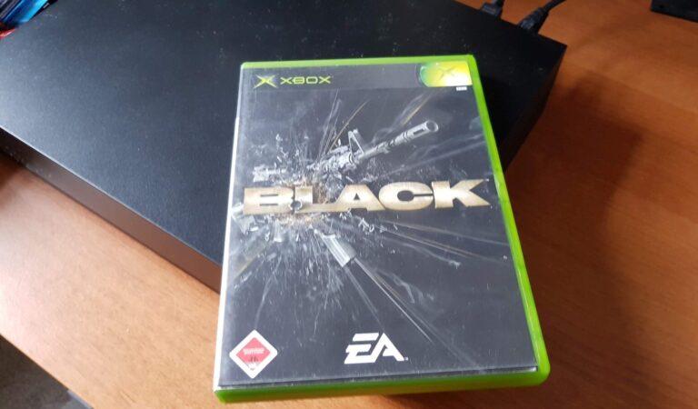 """Das erste Spiel, das ist ausprobierte: Der Shooter-Klassiker """"Black"""" sieht auf der Xbox One X echt noch gut aus. (Foto: Sven Wernicke)"""