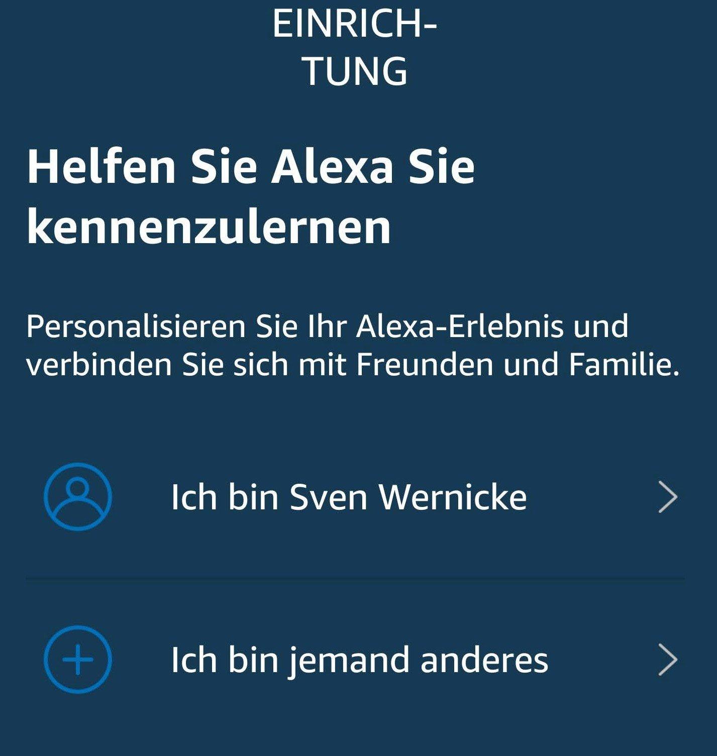 Alexa Stimmerkennung