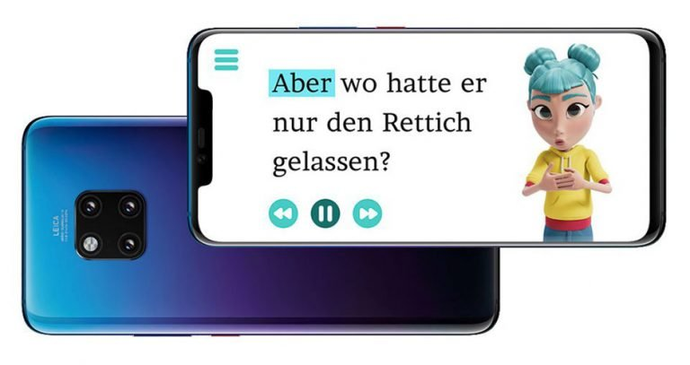 Die App hilft beim Lesen und Verstehen. (Foto: Huawei)
