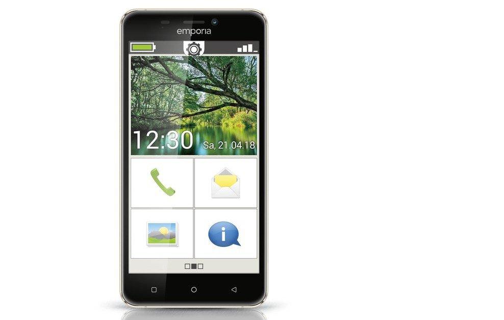 Das Emporia Smart.2 ist ein richtiges Senioren-Smartphone, läuft aber noch unter Android 6.0 (Bild: Emporia)