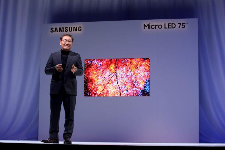 Auf der CES 2019 zeigte Samsung die Micro LED-Technologie. (Foto: Samsung)
