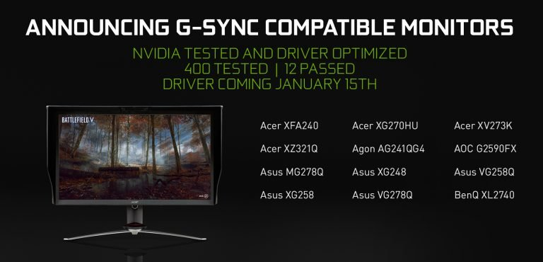Erste Monitore sind kompatibel. (Foto: Nvidia)