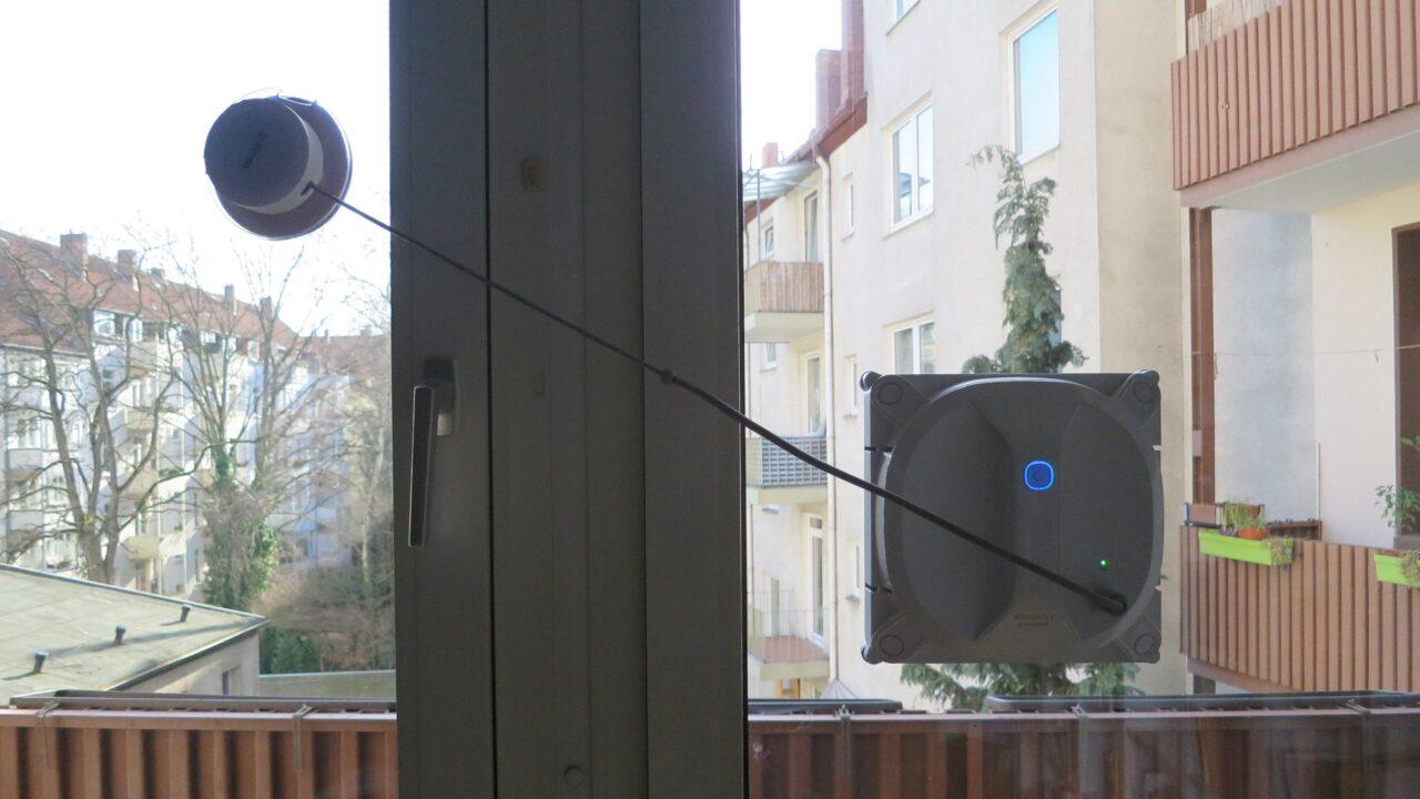 Ecovacs Winbot X im Test: Für Durchblick sorgt der Fensterputzroboter