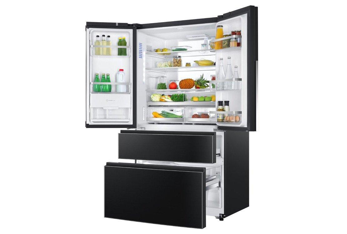 Haier HB25FSNAAA: Dieser Kühlschrank bietet viel Platz, auch in seinen Gefrierschubladen (Bild: Haier)