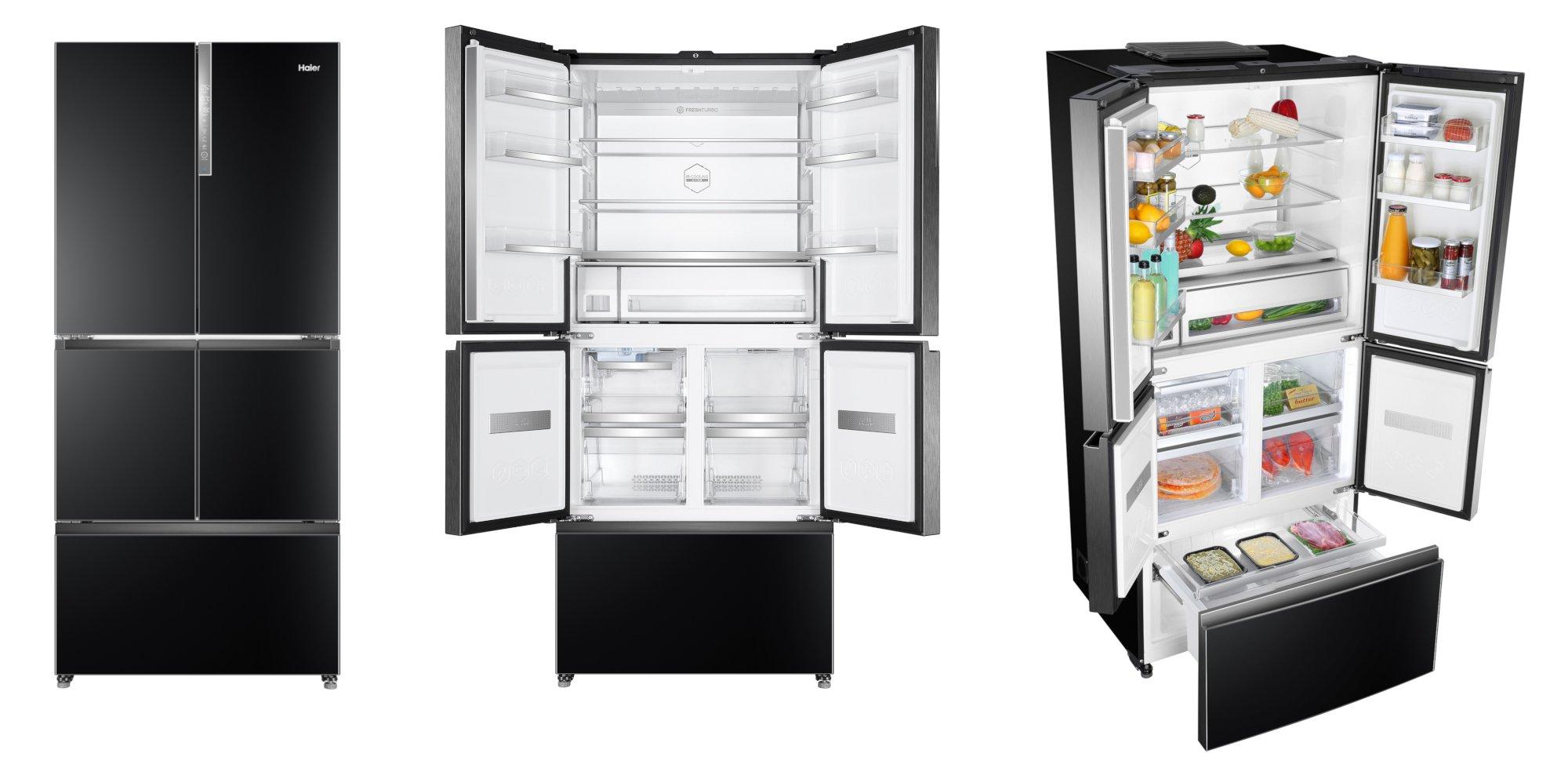 Der neue French-Door-Kühlschrank Haier F+ verfügt über vier Türen und eine Gefrierschublade (Bild: Haier)