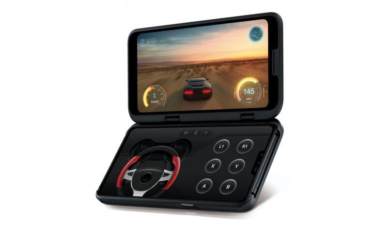 Das Zweitdisplay für das LG V50 ThinQ 5G lässt sich zum Beispiel für Gaming nutzen.