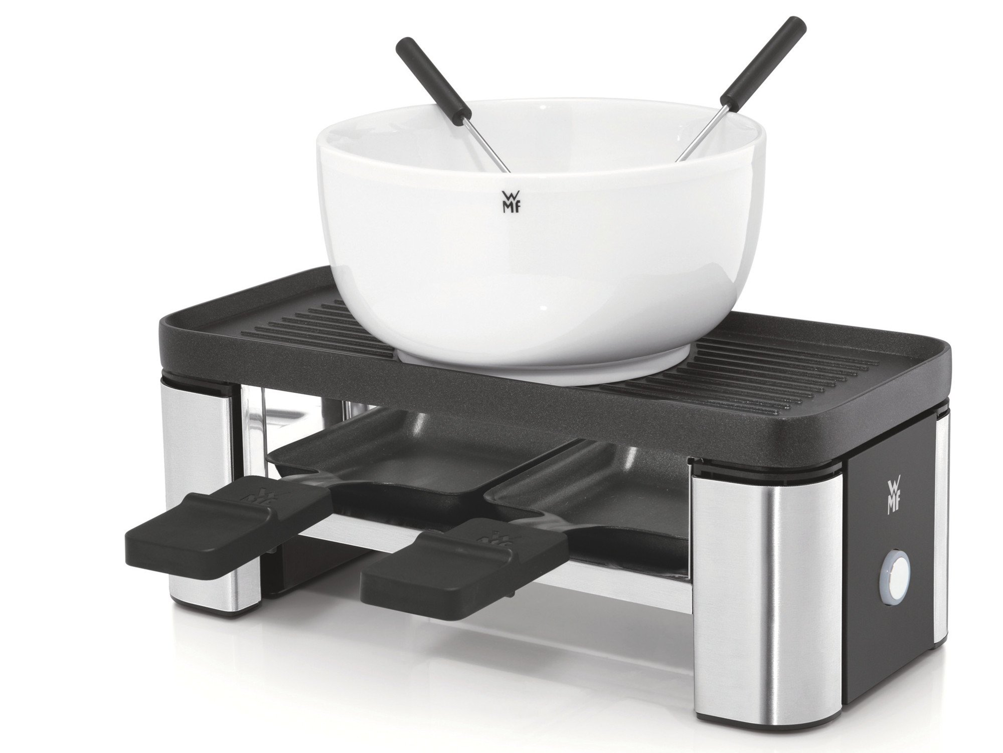 Mit dem Raclettegerät aus der Reihe WMF Küchenminis lässt sich auch im kleinen Kreis gut dinieren (Bild: WMF)