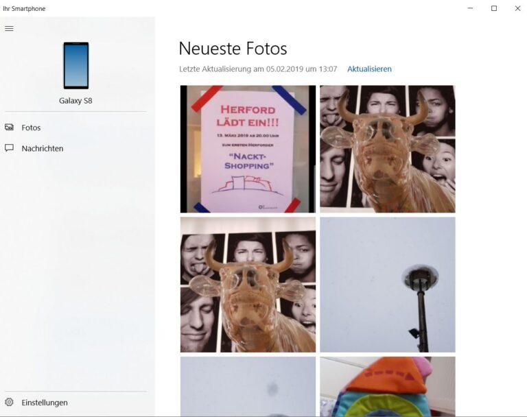 Juhuu. Windows 10 erfolgreich mit dem Handy verbunden. (Foto: Screenshot / Sven Wernicke)