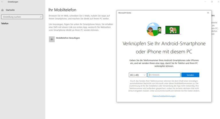 Smartphone verknüpfen - die Idee ist gut... (Foto: Screenshot / Sven Wernicke)