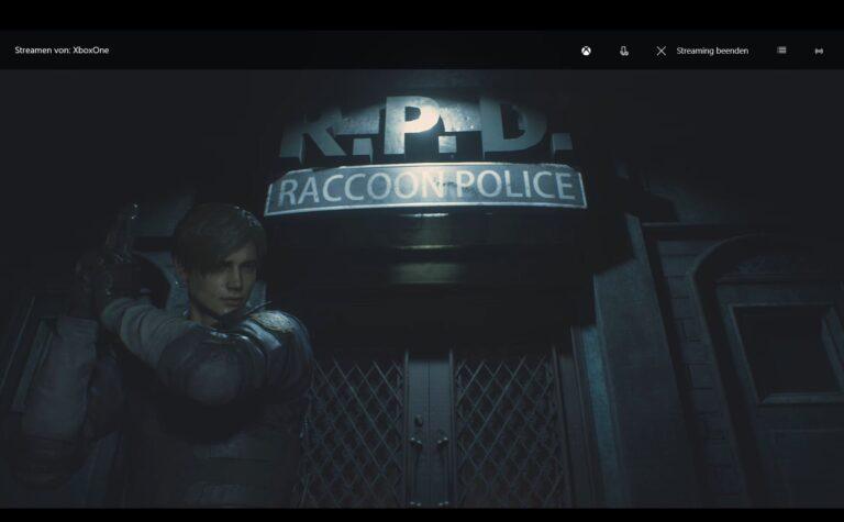 Hier zu sehen: Resident Evil 2 von der Xbox One auf meinen Surface Pro 6 gestreamt. (Foto: Screenshot / Sven Wernicke)