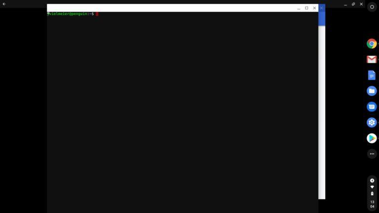 """Da geht noch mehr: Die Linux-""""Experience"""" auf Chrome OS beschränkt sich in Version 72 noch auf das Terminal."""