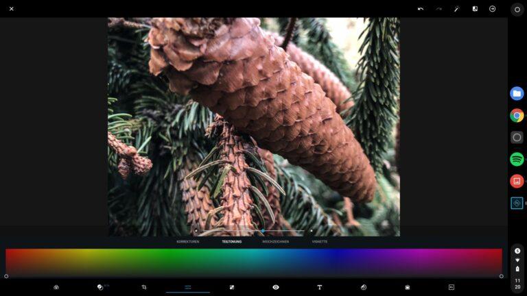 Bildbearbeitung kein Problem mit skalierbaren Android-Apps wie Photoshop Express.