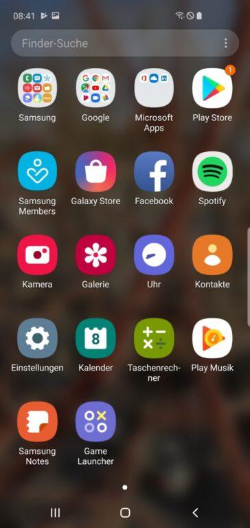 Wirklich schön: Das App-Menü im Galaxy S10