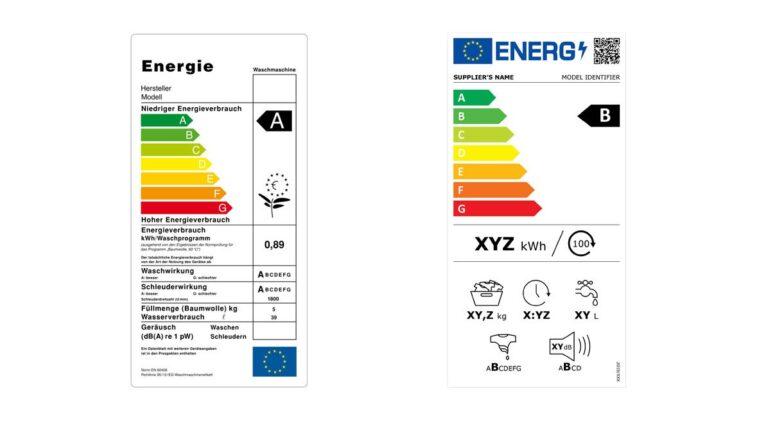 Energielabel alt und neu