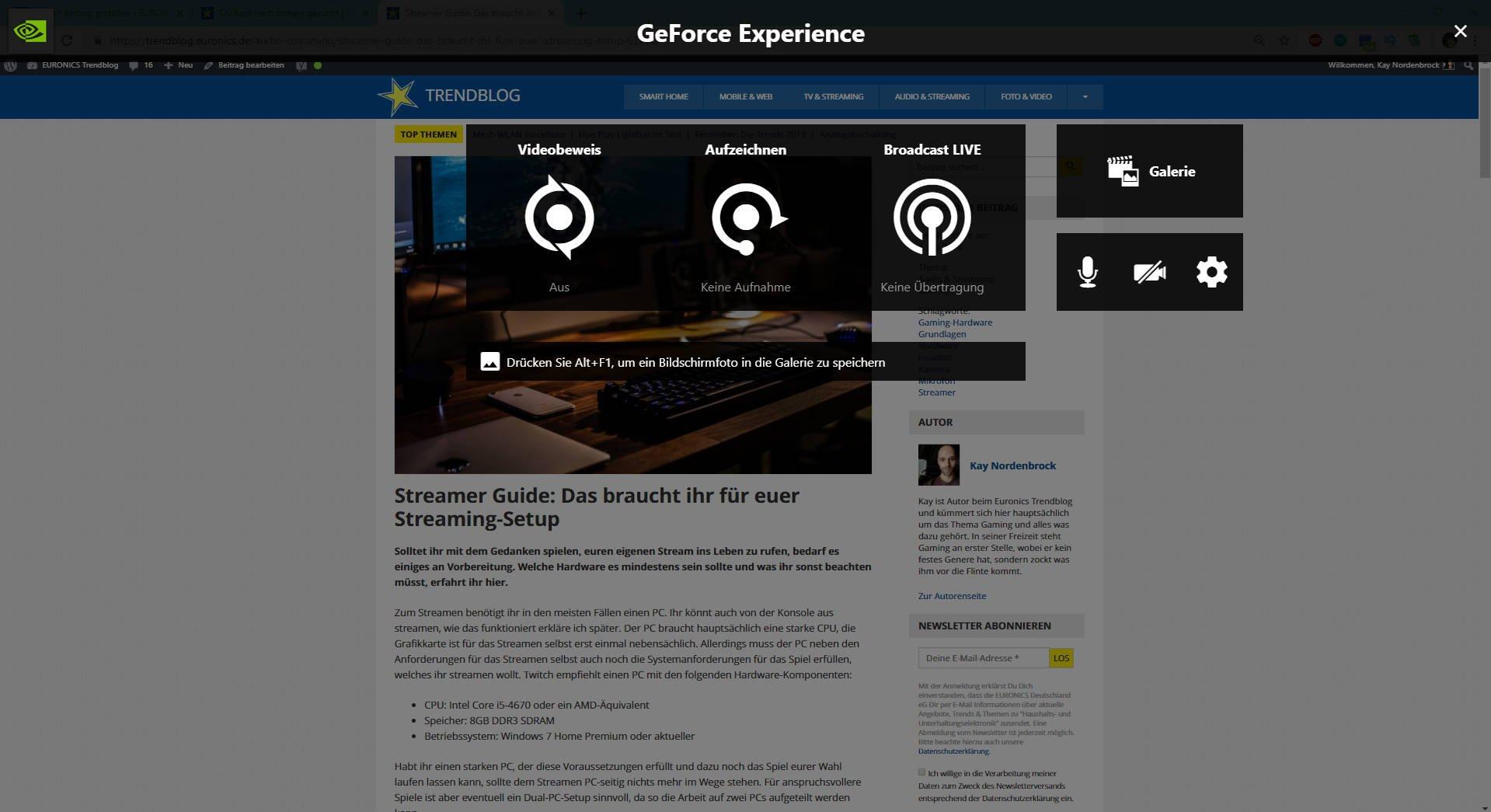 2 Nvidia GeForce Experience
