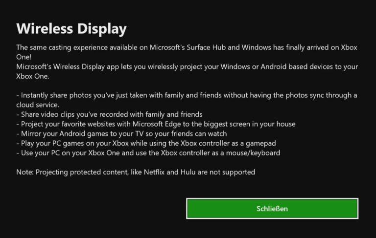 Die Beschreibung der App im Store der Xbox One. (Foto: Screenshot)