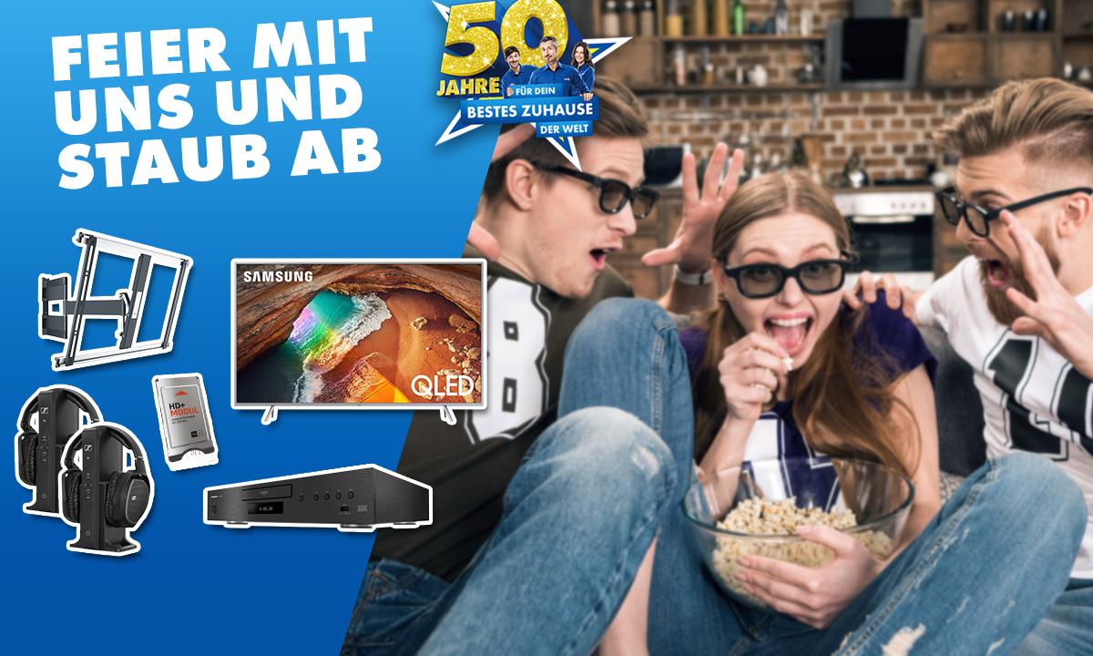 50 Jahre EURONICS: Gewinne ein tolles TV-Setup für dein bestes Wohnzimmer