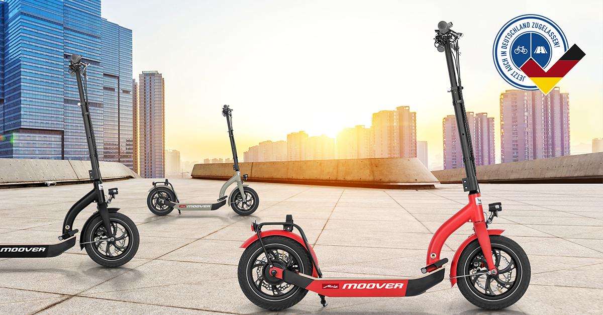 Den E-Scooter Metz Moover gibt es in drei Farben (Bild: Metz)