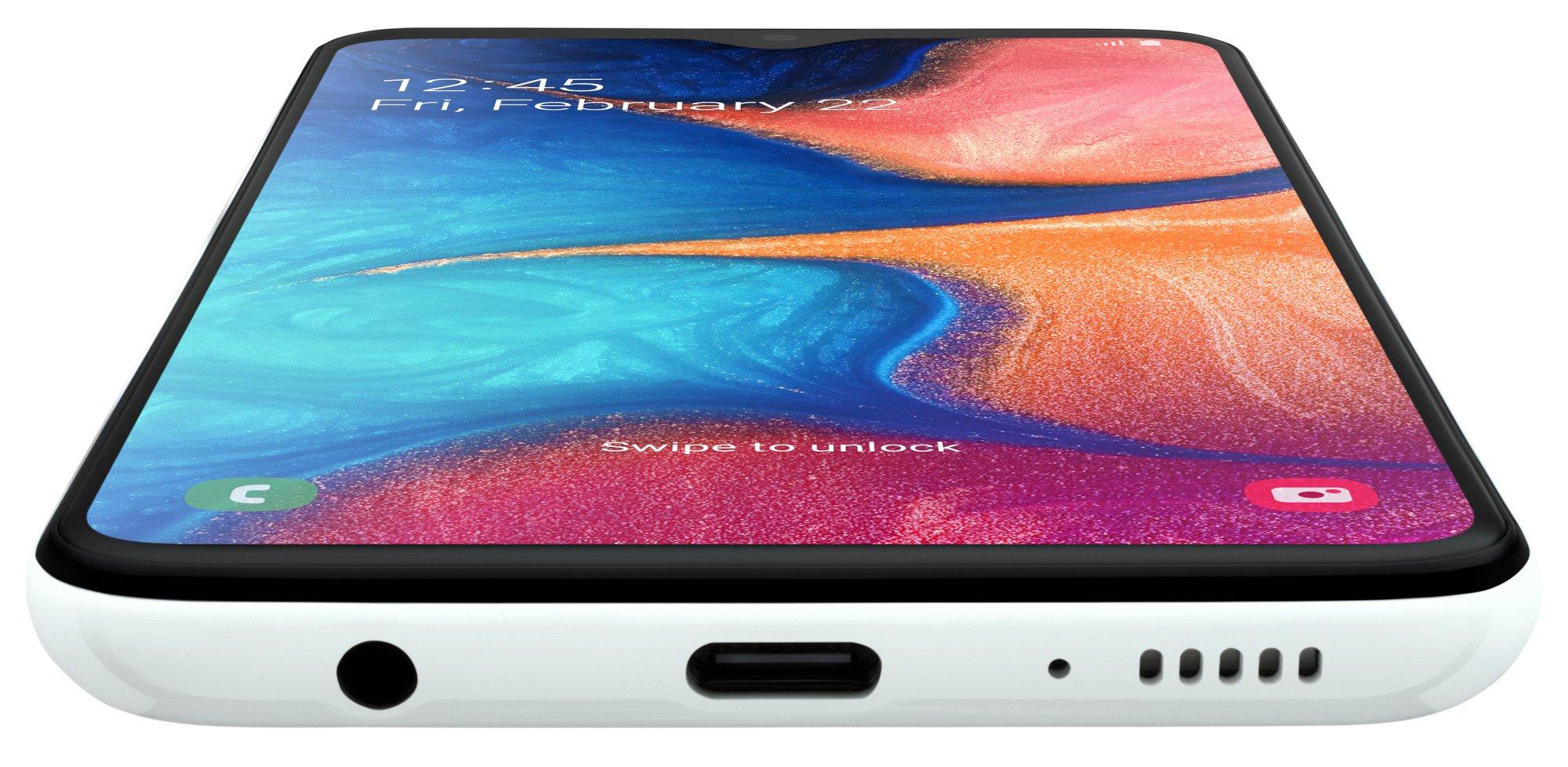 Das Samsung Galaxy A20e einfach und klein, aber vielleicht genau deshalb die richtige Wahl für diejenigen, die bloß erreichbar sein wollen (Bild: Samsung)