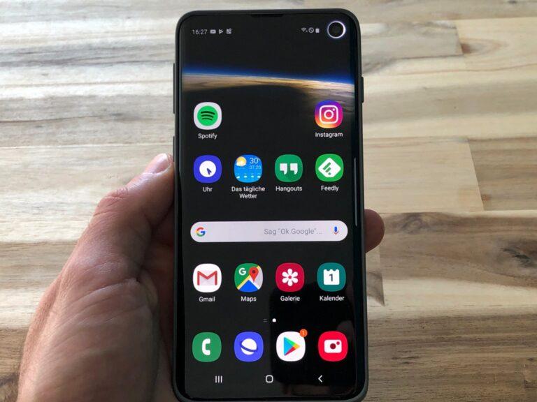 Das Samsung Galaxy S10 hat ein hervorragendes Display.
