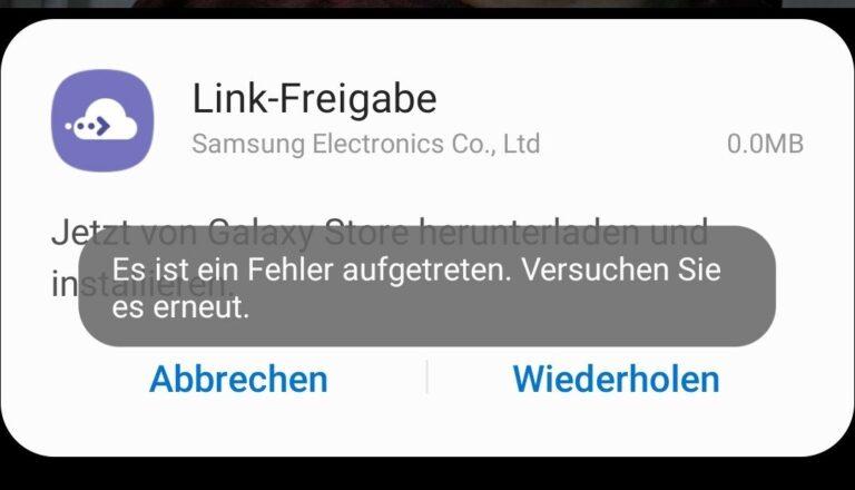 Im Galaxy S10 gibt es eine Linkfreigabe zum Teilen großer Dateien, aber nur nach Registrierung, Download und auch nur, wenn es mal funktioniert...