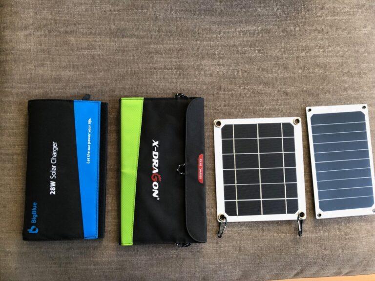 Unsere vier Testgeräte von BigBlue, X-Dragon, Lixada und Cutogain