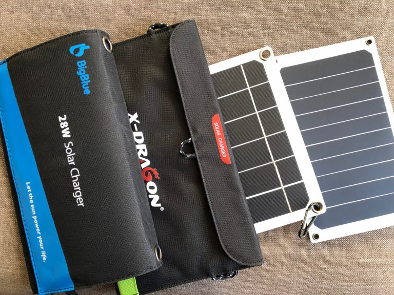 Solarladegeräte für unterwegs: BigBlue, X-Dragon, Lixada und Cutogain
