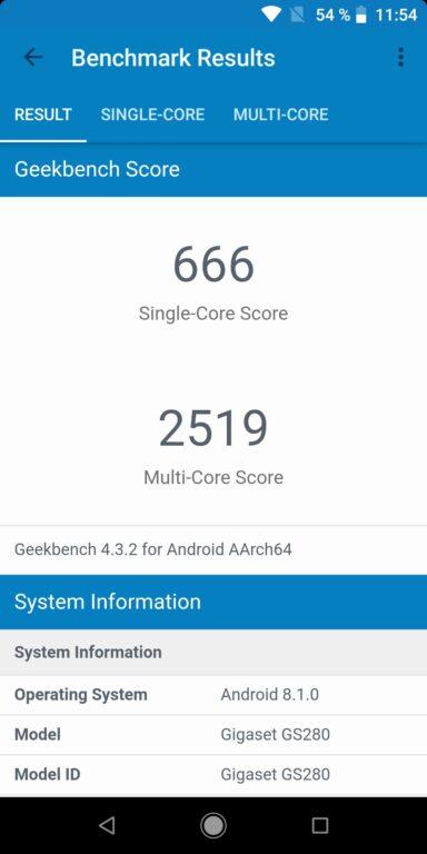 Geekbench-Ergebnisse. (Foto: Sven Wernicke)