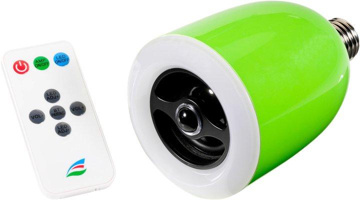 LED mit Fernbedienung und Mini-Lautsprecher - praktisch. (Foto: Ultron)