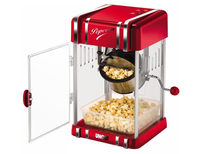 Der Popcornmaker Unold 48535 zaubert in kurzer Zeit eine Leckerei für alle Mädels (Bild: Unold)