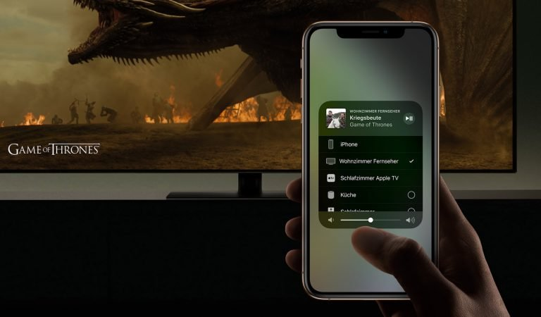 Apple AirPlay 2 mit Game of Thrones. Bilder: Apple/HBO