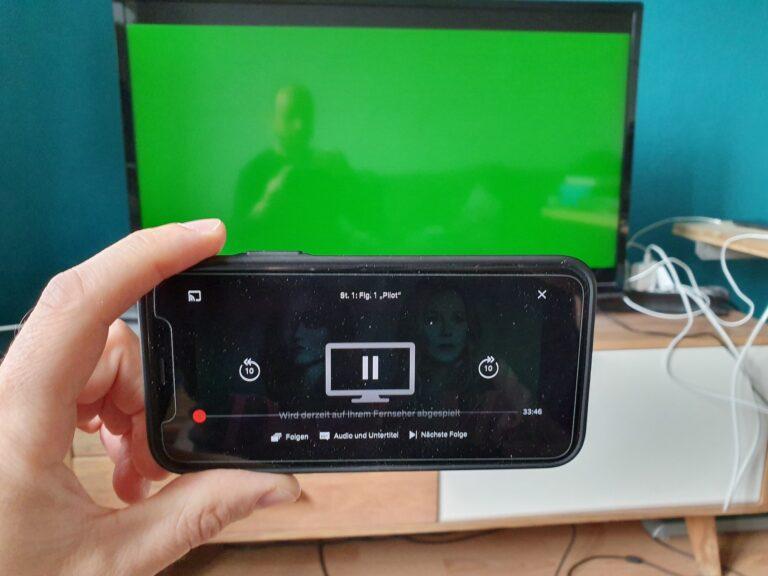 Green Screen: Manchmal verschwindet das Bild bei der Übertragung.