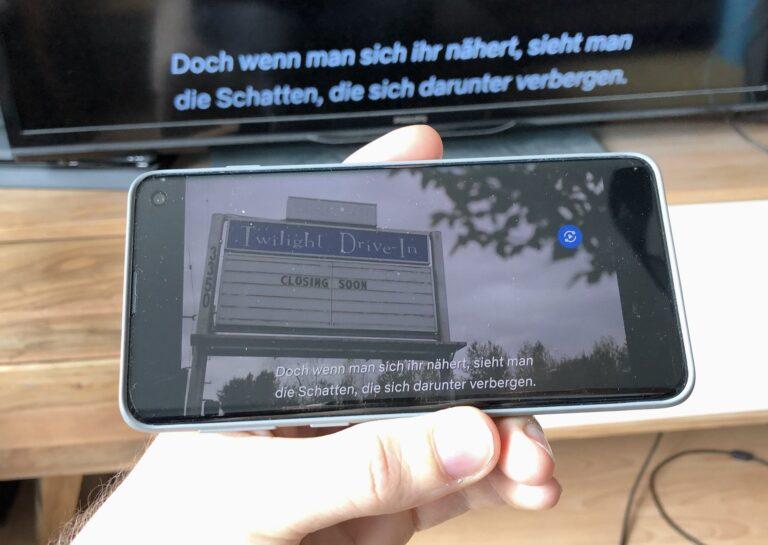 Nur Untertitel und Ton, kein Bild: Beim WeCast geht immer etwas schief.
