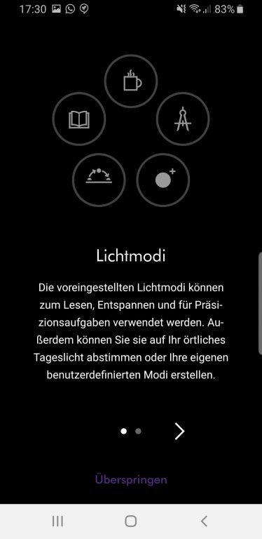 Dyson Light App. (Foto: Sven Wernicke / Screenshot)