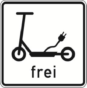 Elektroroller Straßenschild