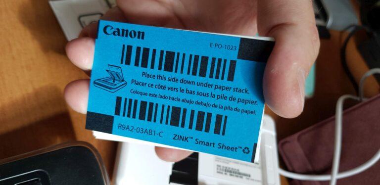 Dieses Smart Sheet liegt dem Druckerpapier bei und ist zum Kalibrieren nötig. (Foto: Sven Wernicke)