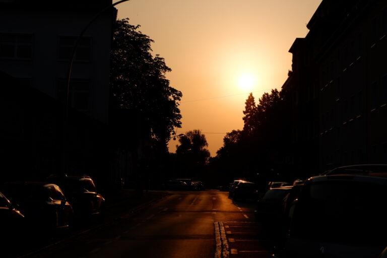 Für dieses Sonnenuntergangsfoto kam der elektronische Verschluss der Fujifilm X-A5 zum Einsatz