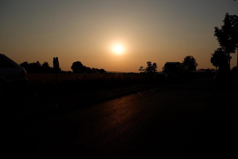 Sonnenuntergangsbild: Mit ein paar Handgriffen mit der X-A5 erstellt.