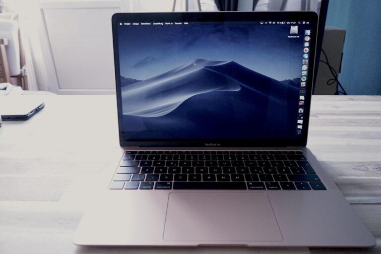 Hübsch ist es geworden: Das MacBook Air 2018