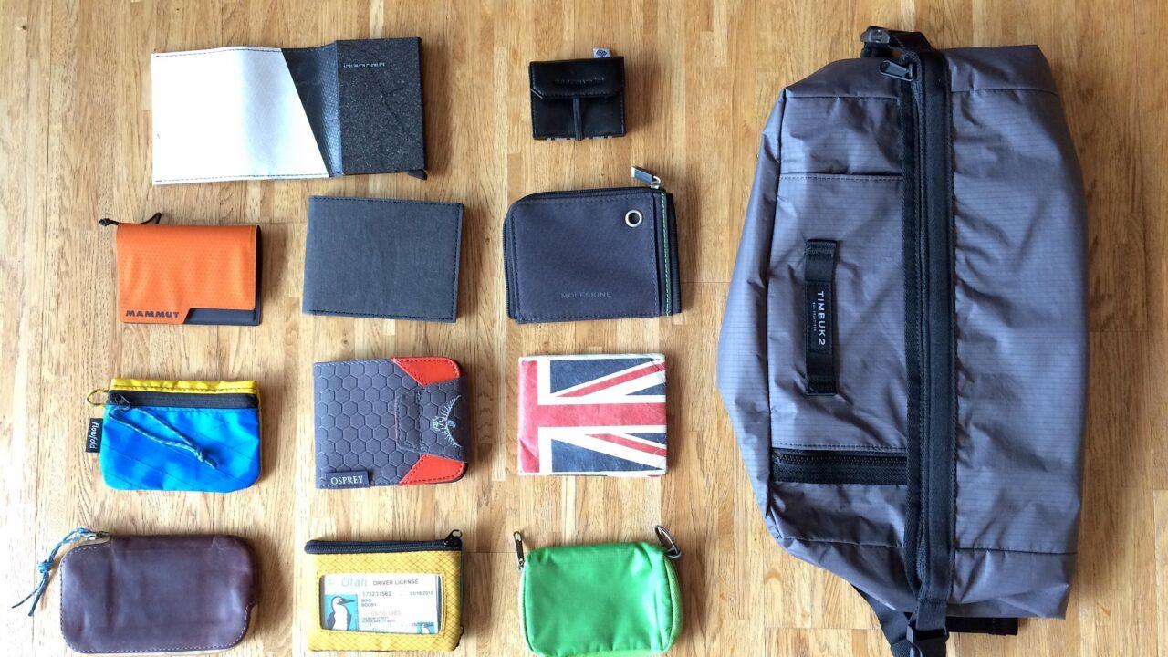 14 Minimal Wallets und ein Minimal Daypack
