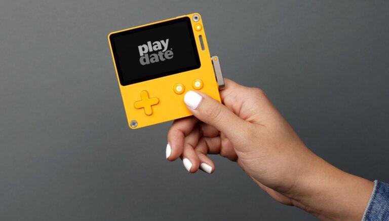 Playdate - eine ungewöhnliche Konsole. (Foto: Panic)