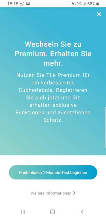 Premium-Funktionen. (Foto: Screenshot)