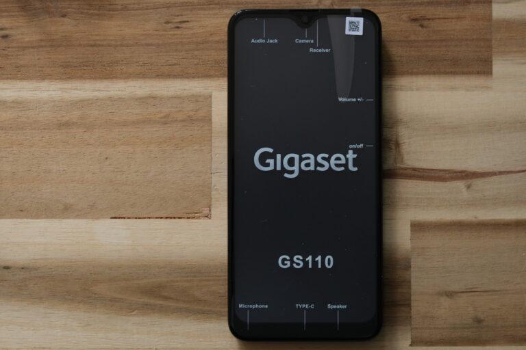 Gigaset GS 110 gerade ausgepackt