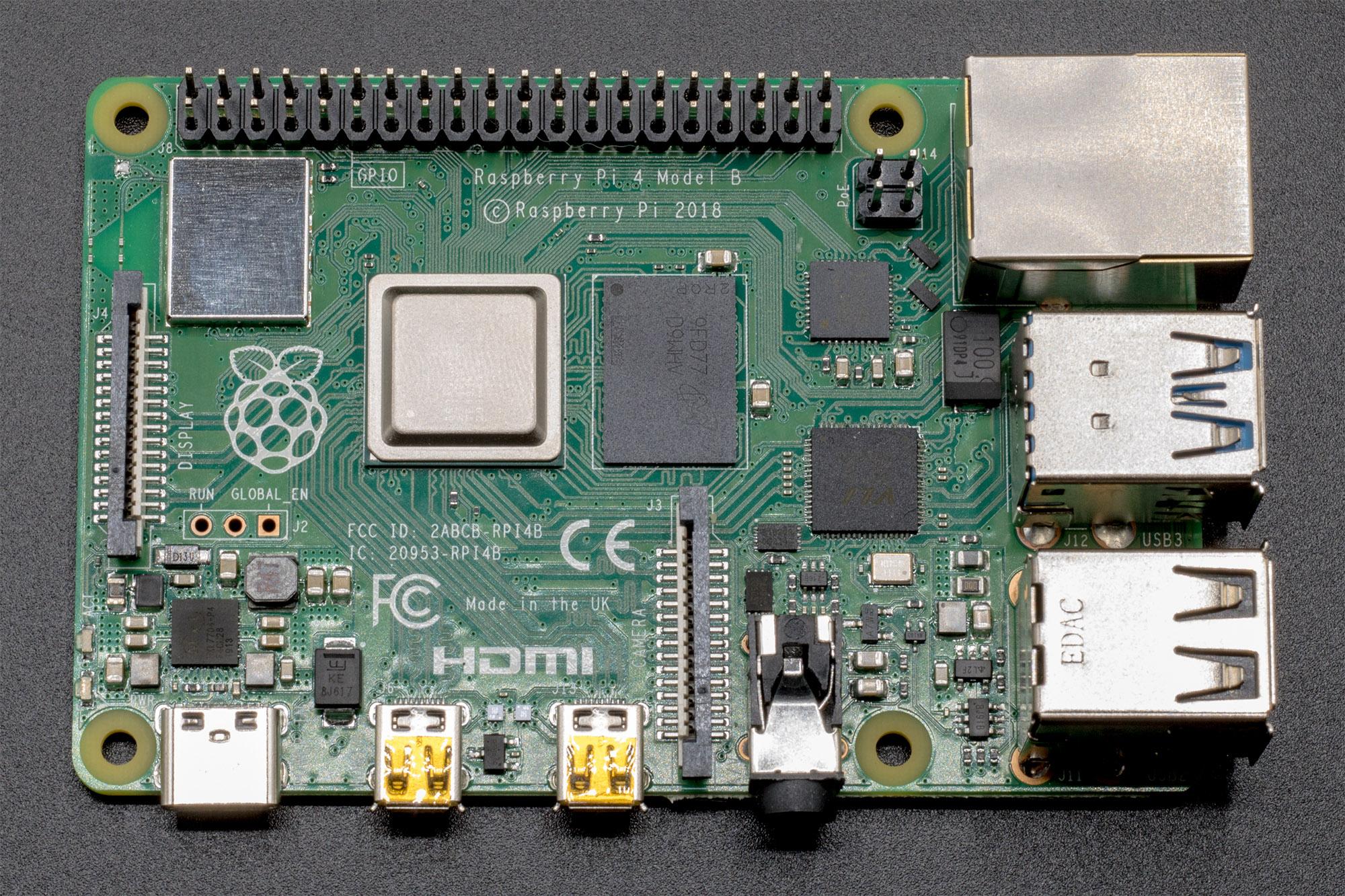Das Board des Raspberry Pi 4