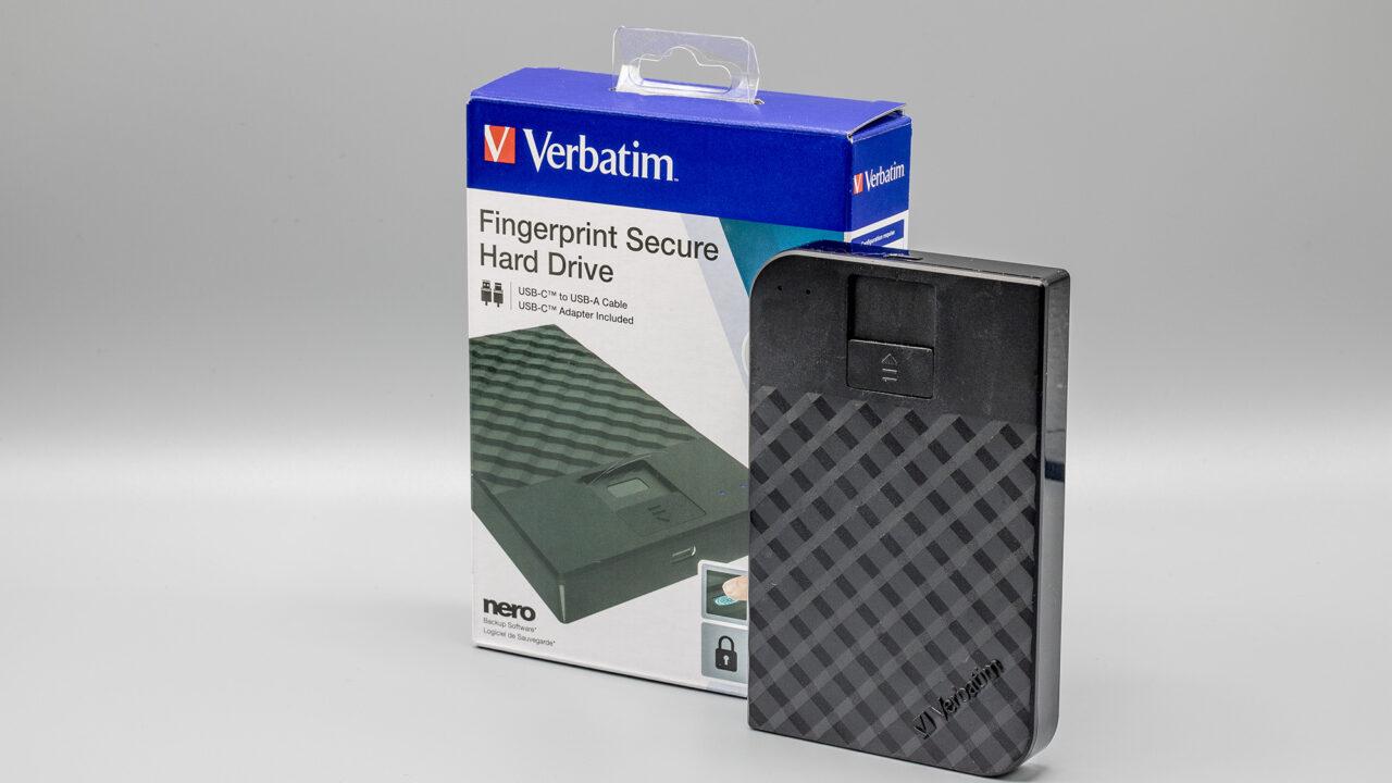 Verbatim Fingerprint Secure Hard Drive: Festplatte mit Fingerabdrucksensor im Test