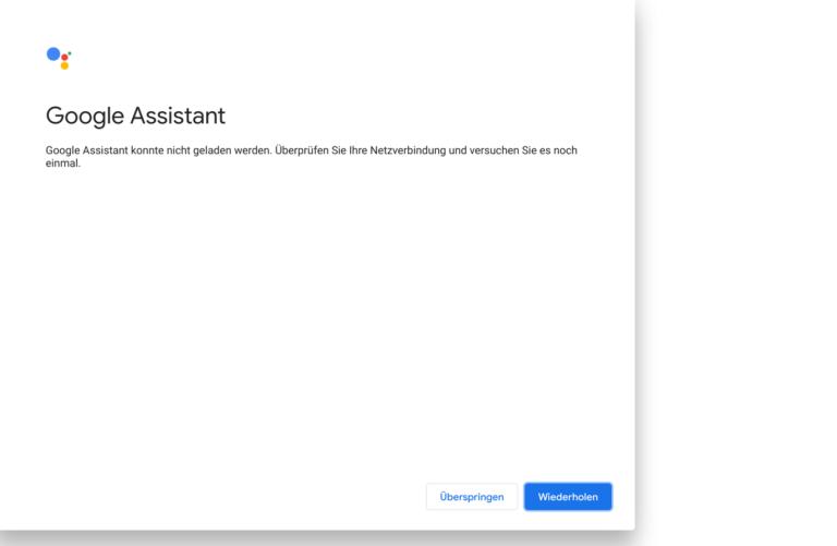 Der Google Assistant wollte noch nicht so recht...