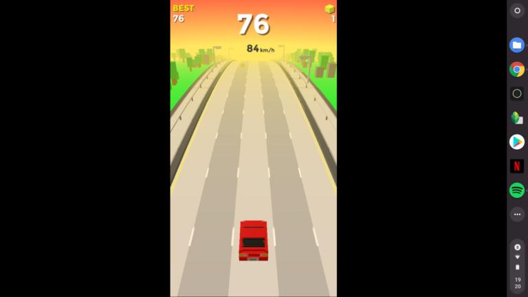 Viele Spiele bleiben in der Smartphone-Ansicht, manche funktionieren nur so halb.