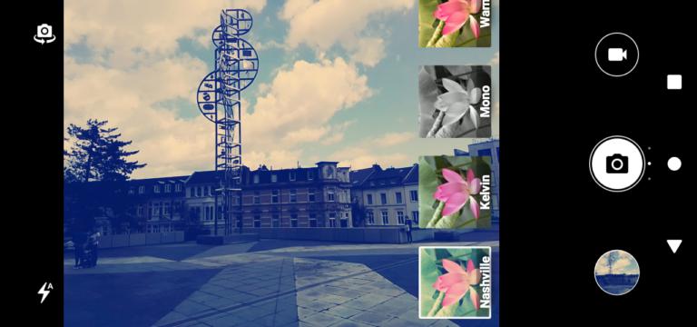 Hübsche Effekte im Instagram-Stil könnt ihr beim Gigaset GS 110 schon vor der Aufnahme auswählen.